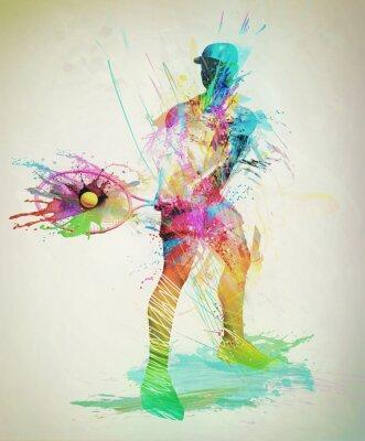 Väggdekor Abstrakt tennisspelare