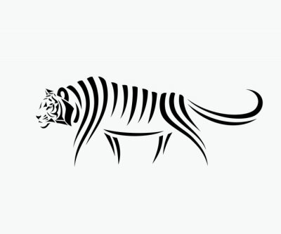 Väggdekor Abstrakt tiger illustration