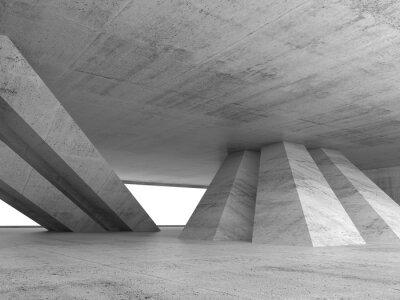 Väggdekor Abstrakt tom betong inre 3d