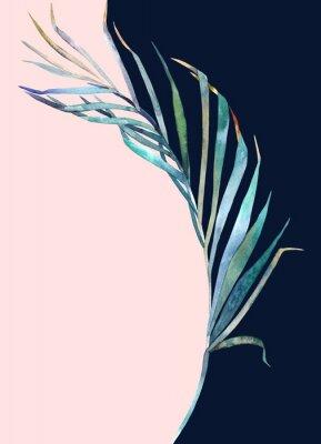 Väggdekor Abstrakt tryck. Akvarellblad