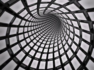 Väggdekor Abstrakt tunnel, 3D