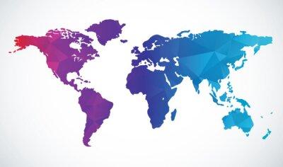 Väggdekor Abstrakt värld karta