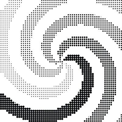 Väggdekor Abstrakt virvel halvton prick vektor
