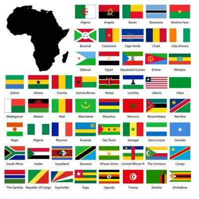 Väggdekor African flags