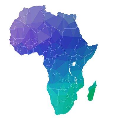 Väggdekor Afrika i färgtriangeln. raster 4