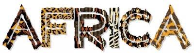 Väggdekor Afrika lapptäcke med tyg och hud texturer