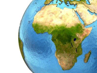 Väggdekor Afrikanska kontinenten på jorden
