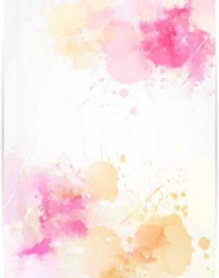 Väggdekor Akvarell abstrakt bakgrund med färgstänk.
