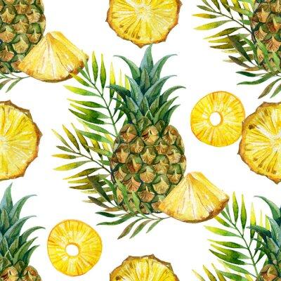 Väggdekor akvarell ananas seamless