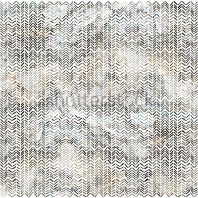 Väggdekor Akvarell zigzag chevron mönster modern