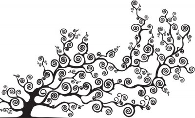 Väggdekor albero con rami curvi