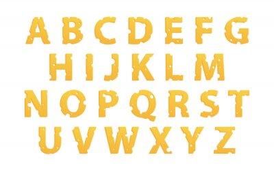 Väggdekor Alfabet som ost