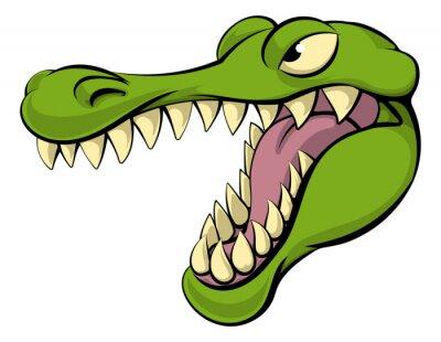 Väggdekor Alligator eller krokodil seriefigur
