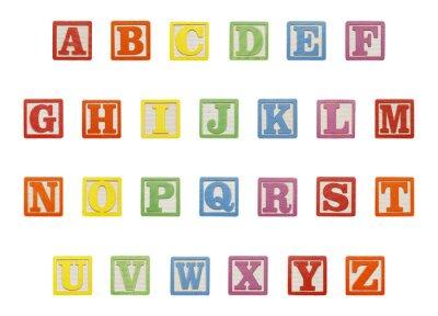 Väggdekor Alphabet Blocks Topp