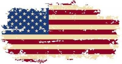 Väggdekor American grunge flagga. Vektor illustration.
