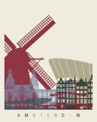 Väggdekor Amsterdam horisont affisch