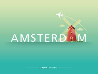 Väggdekor Amsterdam typografi