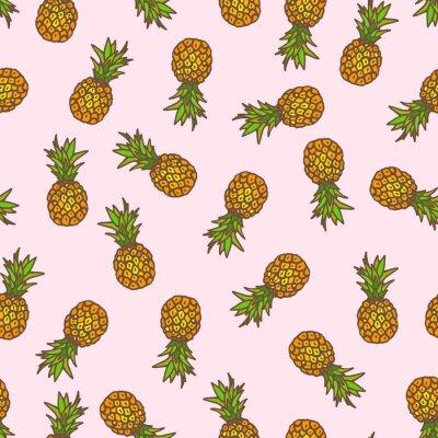 Väggdekor Ananas sömlös bakgrund.