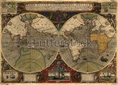 Väggdekor Ancient map