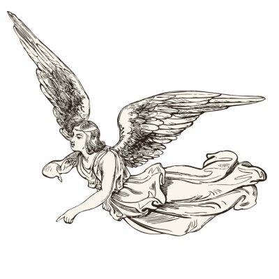 Väggdekor ängel