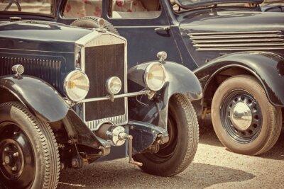 Väggdekor Antika bilar, vintage process