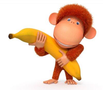 Väggdekor Apan med bananer