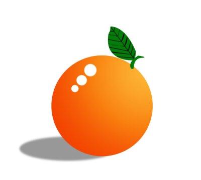Väggdekor Apelsin frukt isolerade