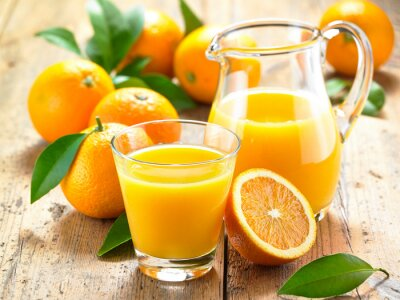 Väggdekor apelsinjuice