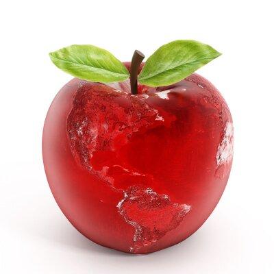 Väggdekor äpple jord
