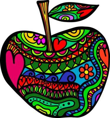 Väggdekor äpple klotter