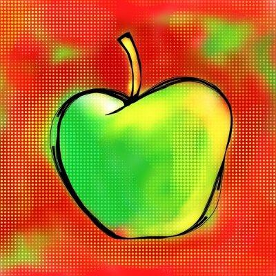 Väggdekor Apple Painting