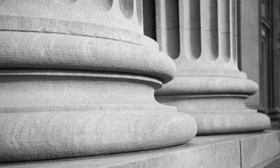 Väggdekor Arkitektoniska kolonner i en klassisk Federal Buuilding
