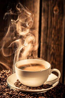 Väggdekor Arom kaffekopp med rostade frön