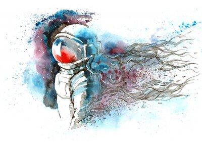 Väggdekor astronaut