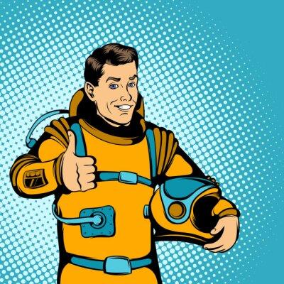Väggdekor Astronaut begrepp, komiker stil