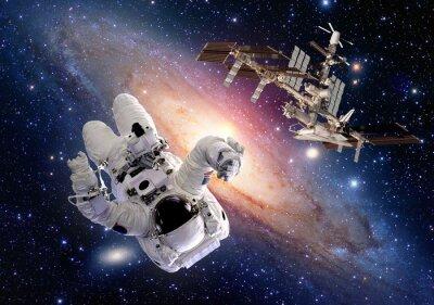 Väggdekor Astronaut spaceman sci fi yttre rymdfärjan station rymdskepp. Delar av denna bild som tillhandahålls av NASA.