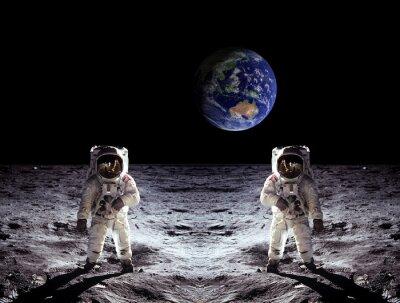 Väggdekor Astronauter månlandningen Earth