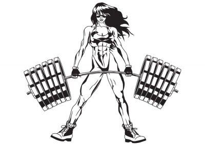 Väggdekor atletisk flicka