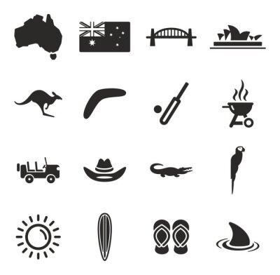 Väggdekor australien Ikoner
