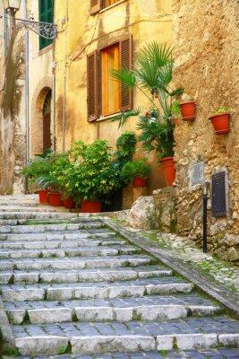Väggdekor autentiska medeltida byar i Italien - Casperia