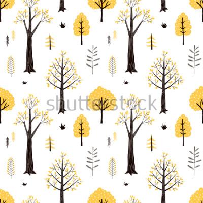 Väggdekor autumn forest pattern
