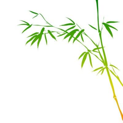 Väggdekor bakgrund med bambu grenar