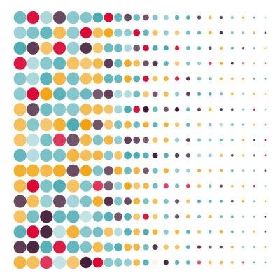 Väggdekor Bakgrund med färgade streckade cirklar i en vektor