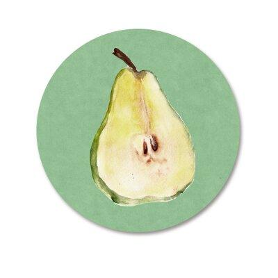 Väggdekor Bakgrund med frukt. akvarell illustration