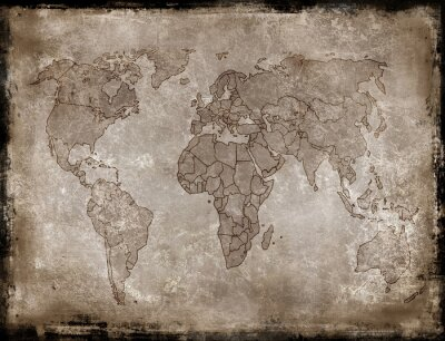 Väggdekor bakgrunder gammal karta