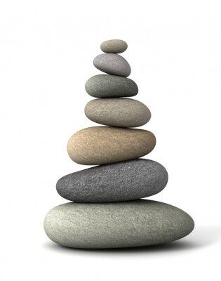 Väggdekor balans stenar