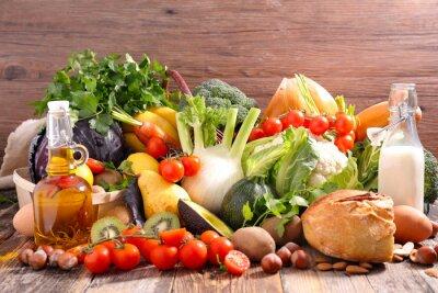 Väggdekor balanserad kost matkoncept