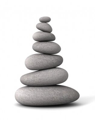 Väggdekor balanserings stenar