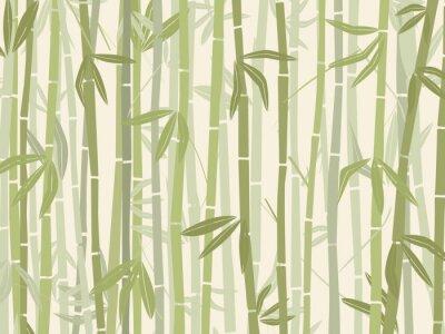 Väggdekor bambu skog