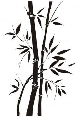 Väggdekor Bambus